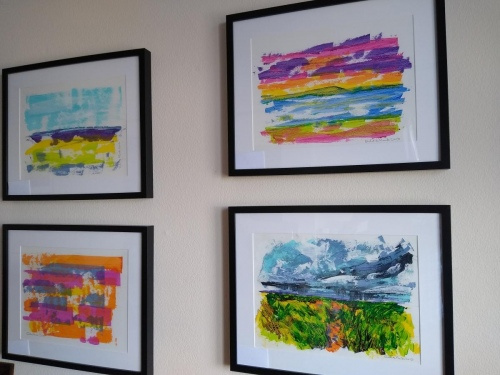 View of framed pictures